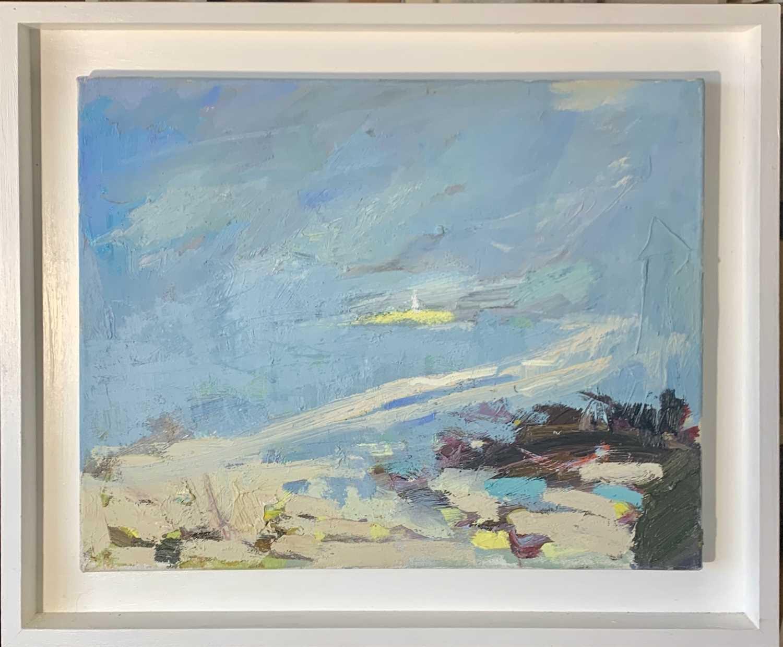 Lot 35 - Paul WADSWORTH (XX-XXI) Godrevy Island Oil on...