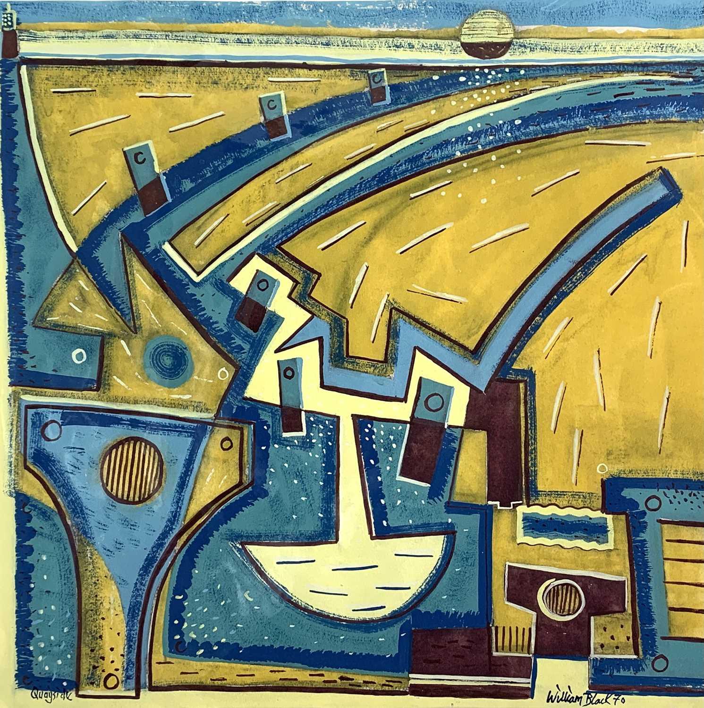 Lot 65 - William BLACK (20th Century British) 'Quayside'...