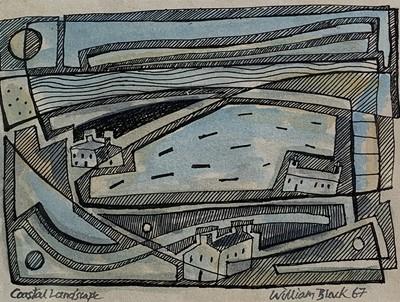 Lot 72 - William BLACK (20th Century British) 'Coastal...