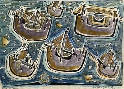 Lot 75 - William BLACK (20th Century British) 'Ships at...