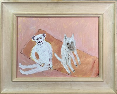 Lot 29 - David PEARCE (1963) 'Sam and Jo' Oil on canvas...