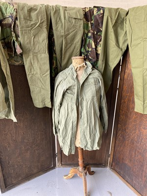 Lot 3 - A selection of green and camouflage army...