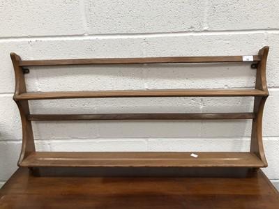 Lot 15 - An Ercol hanging plate rack, height 50cm,...