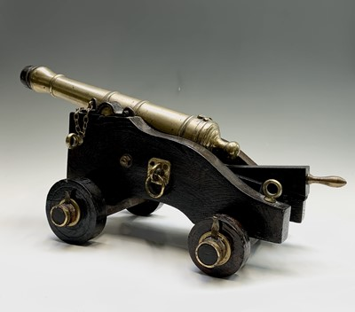 Lot 10 - A bronze signalling cannon, early 19th century,...