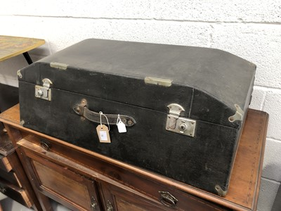 Lot 18 - Vintage Brexton car trunk, approximate height...