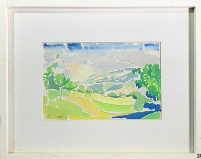 Lot 89 - Tom CROSS (1931-2009) Italian landscape,...