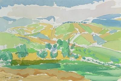 Lot 53 - Tom CROSS (1931-2009) Landscape at San Ginesio...
