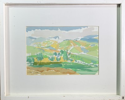Lot 90 - Tom CROSS (1931-2009) Landscape at S. Ginesio...