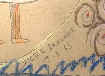 Lot 341 - Follower of Victor BRAUNER (1903-1966)...