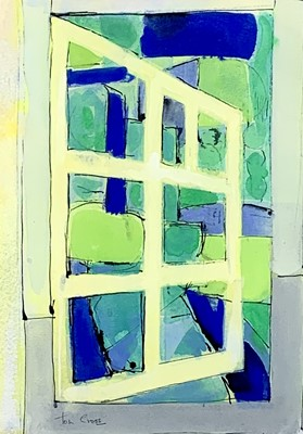 Lot 93 - Tom CROSS (1931-2009) Garden Window Gouche...