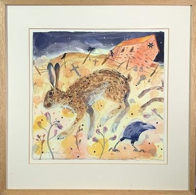 Lot 354 - Andrew WADDINGTON (1960) Hare Watercolour...