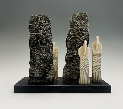 Lot 103 - John MALTBY (1936 - 2020) 'Figures with...