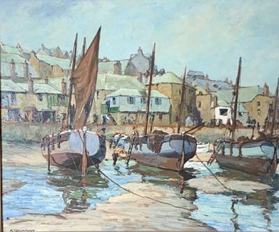 Lot 10 - George TURLAND GOOSEY (1877-1947) Low Tide, St...