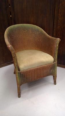 Lot 24 - A Lloyd Loom chair.
