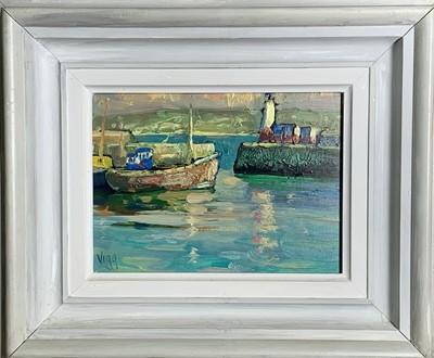 Lot 4 - Bob VIGG (1932-2001) Harbour Entrance, Newlyn...