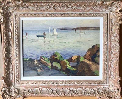 Lot 9 - William TODD-BROWN (1875-1952) Godrevy from St...