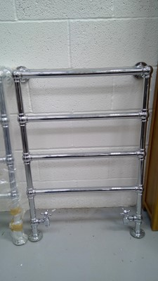 Lot 14 - A Chrome hot water heated towel rail.