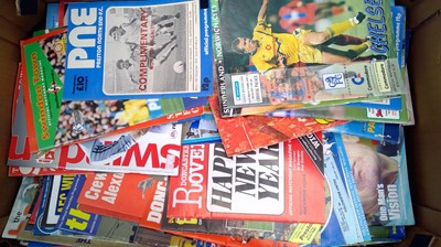 Lot 17 - Football memorabilia in three boxes,...