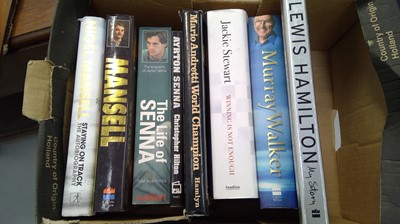Lot 19 - Autobiographies and biographies on motorsport.