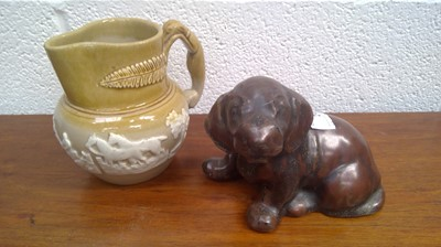 Lot 24 - A studio pottery figure of a puppy,...