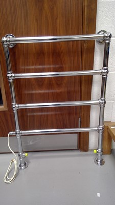 Lot 10 - Chrome electric heated towel rail.