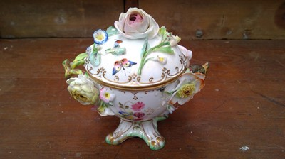 Lot 43 - 19th Century English porcelain cup and cover...