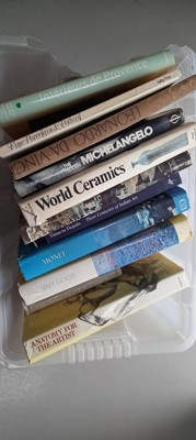 Lot 2 - A box of books, mostly art and ceramics,...