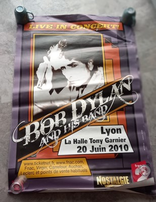 Lot 4 - Eight posters advertising a Bob Dylan concert...