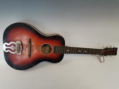 Lot 11 - A '1950s' acoustic parlour guitar.