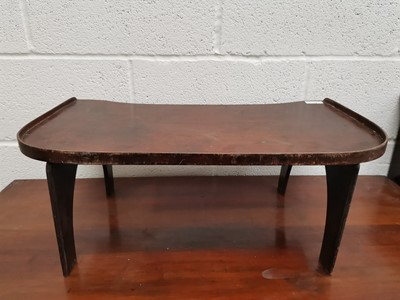 Lot 16 - A mahogany folding bed and breakfast table.