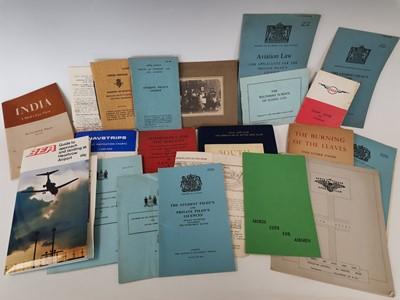 Lot 17 - A collection of 'aviation' booklets, some...