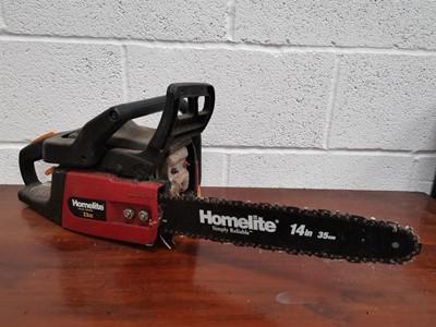 Lot 21 - A 'Homelite' 33cc chainsaw.