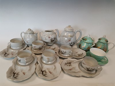 Lot 22 - A Japanese 'Kutani' tea set, with three other '...