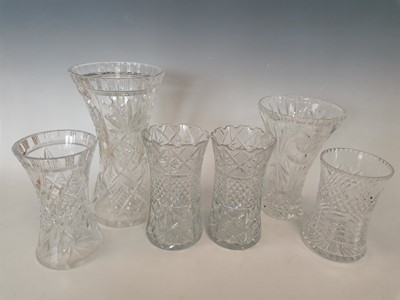 Lot 6 - Six crystal vases.