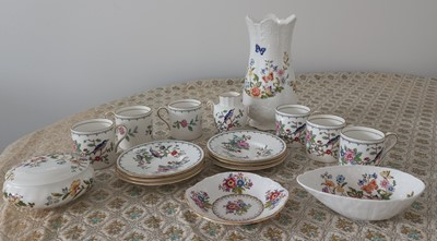 Lot 34 - An Aynsley 'Pembroke' part tea set, comprising...