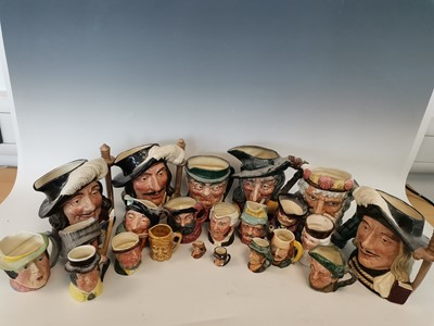 Lot 9 - A large collection of Character and Toby Jugs.
