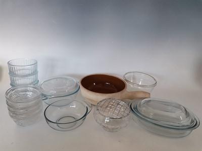 Lot 11 - A 'Bohemian' lead crystal rose bowl, a ceramic...
