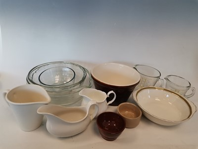 Lot 12 - A stoneware butter bowl, a 'Grindley' Cream...