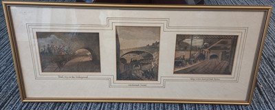 Lot 44 - A rare 19th century hand-coloured triptych of...