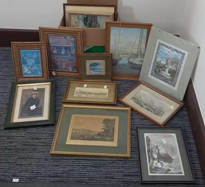 Lot 46 - Two middle Eastern framed prints a small...