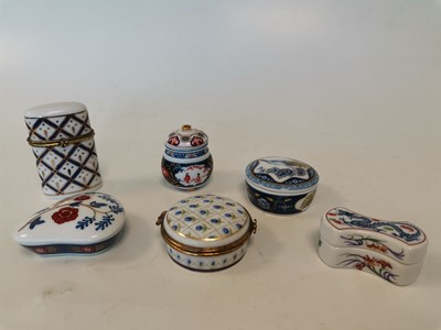 Lot 17 - 'Del Prado Collection' porcelain trinket boxes.