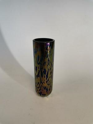 Lot 18 - A 'Royal Brierley Studio' iridescent glass vase.