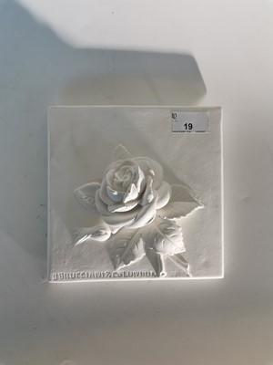 Lot 19 - British Museum 'Brucciani' plaster rose mould.