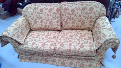 Lot 48 - Very good quality three-seater settee, height...