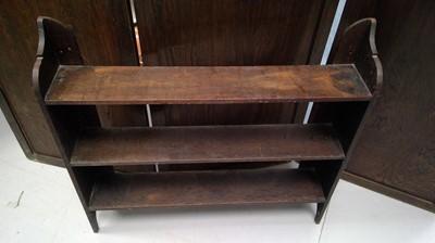 Lot 51 - Oak hanging open shelves, height 80cm width...
