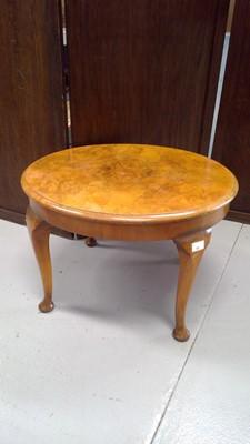 Lot 53 - A burr walnut circular occasional table,...