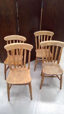 Lot 56 - Four Lathe back chairs.