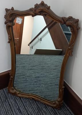 Lot 77 - A vintage gold gilt wall mirror.