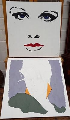 Lot 79 - Three large pop art paintings on board,...