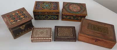 Lot 94 - Vintage handmade and handpainted Indian hinged...